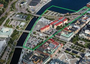Inom det inringade området planeras stadsdelen Norrstenstan.