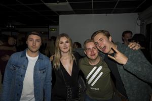 Lucas Nord Solin, Sandra Wetterstedt, Emil Holm och William Wigren.