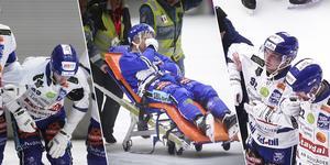 Johan Löfstedt, Martin Johansson och Petter Björling tvingades alla tre avbryta World cup. Bild: Jonna Igeland, Andreas Tagg, skärmdump Staylive