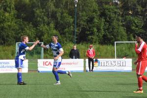 Hemmalagets Anders Johansson gjorde två mål i matchen mot Kungsängens IF