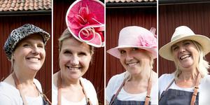 """""""Jag är lite av en teaterapa så jag bär olika hattar utifrån tillfälle och humör, eftersom jag känner att jag är flera personer"""", säger Karin och skrattar."""