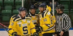 Carl Becker, Sebastian Walfridsson och Ludwig Blomstrand gjorde alla varsitt mål mot Nyköping.