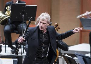 Martin Fröst under en konsert i Tonhallen 2014.