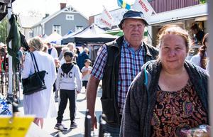 Junsele marknad var väl besökt under första dagen på marknaden.