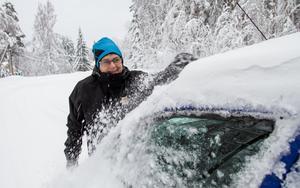 Lena Högberg gör sin andra vinter inom hemtjänsten i Bergvik.