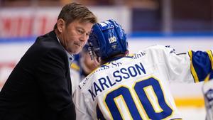 Leksands assisterande tränare Gunnar Persson bekräftar Roger Melins berättelse i Hockeypuls podcast. Foto: Daniel Eriksson/Bildbyrån.