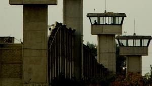 Övervakningstorn vid fängelsekomplexet Puente Grande i utkanten av Guadalajara i Mexiko.
