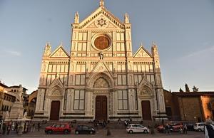 Santa Croce i italienska Florens. Foto: Maurizio Degl'Innocenti/AP Photo
