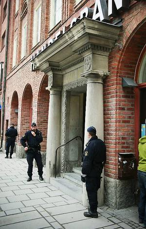 Överfallslarmet gick på Handelsbanken i Östersund vid lunchtid.