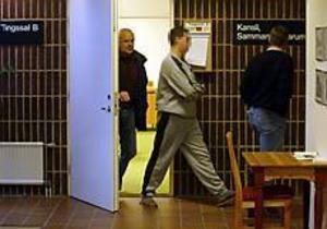 En 23-årig man häktades på juldagen vid Sandvikens tingsrätt, misstänkt för två taxirån och ett personrån. FOTO: LARS WIGERT