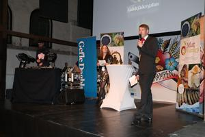 På scenen fanns dj Slimvic och kvällens konferencierer var Angelica Ränttilä och Magnus Lundquist från Gefle Dagblad.