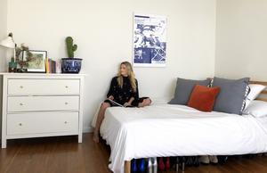 Lina Cedmer bor i en liten studio-lägenhet i Santa Monica. Foto: Elisabeth Corcoran
