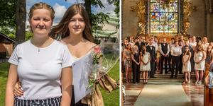 På fredagen var det skolavslutning i Norberg. Niorna Frida Andersson och Tuva Blom var väldigt glada och taggade på sommarlov.