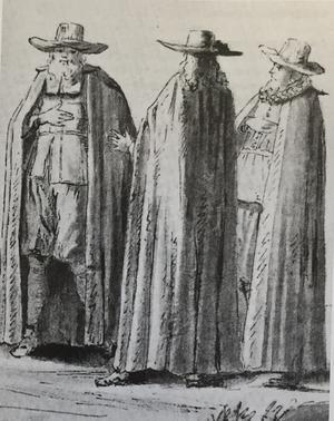Det finns ingen bild på prästen Kjällman, men så här gick han troligen klädd. Ur Sjuhundrabygden.