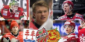 Fem talanger – Isak Wallin, Victor Brattström, Mattias Norlinder, Victor Berglund och Gustav Nielsen – på listan. Ett lag dominerar. Foto: Bildbyrån/Sporten.