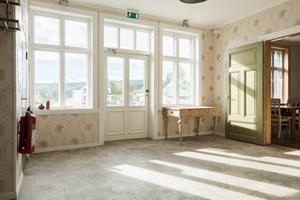 Entréhallen i stationshuset.  Foto: ERA Mäklarbyrå