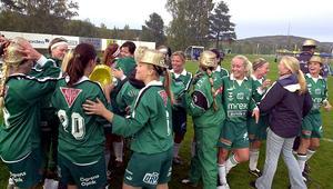 Guldhattarna på efter sista matchen 2003.                                               Bild: Mats Berglund