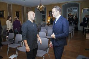 Ashkan Pouya och Prins Daniel hade mycket att prata om.