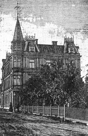 Kyrkgatan 48 år 1905, det så kallade Melanderska palatset där huserade bland annat Jämtlands-Posten.