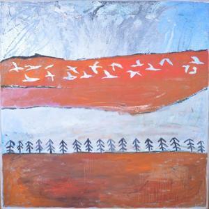 Målning av Camilla Pyk.