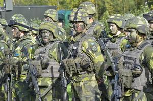 Tanken på en EU-armé är en tokig idé i överstatlighetens anda. Vi sverigedemokrater vill se svenska soldater i svenska uniformer under svenskt befäl som försvarar vårt land, skriver Andrea Kronvall. Foto: Jonas Ekströmer, TT.