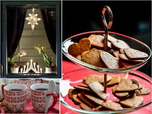 Adventsstjärna, glögg, pepparkakor och adventsljusstaken är några av de svenska traditionerna vid juletid.