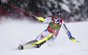 Frida Hansdotter säkrade segern i slalomcupen.