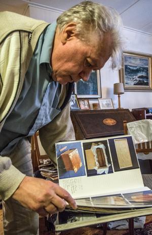 Christer Arvidson har dokumenterat sina 39 utställningar i ett särskilt album. Nu är det dags för den 40:e.