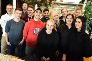 Delar av personalen som fick åka till Italien på studieresor.