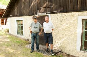 Bertil Andersson och Jan Johansson hoppas på många besökare under Dan Andersson veckan. (Arkivbild)