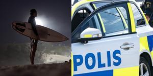 En surfbräda försvann på torsdagen från Alkärrsplan. Foto. Felipe Dana, Johan Nilsson/TT