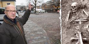 Krister Ström ledde utgrävningarna på Bondtorget 1972, efter den första kristna begravningsplatsen i Västerås. Bild: Kenneth Hudd och Länsmuseet