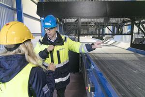 Mattias Marktin vd på Lundstams Återvinning AB.