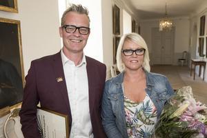 Niklas och Pia Hoxell på slottet. Foto: Kenneth Hudd