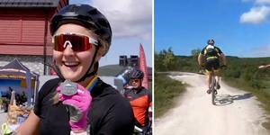 Stina Nilsson deltog i Fjällturen. Foto: SVT