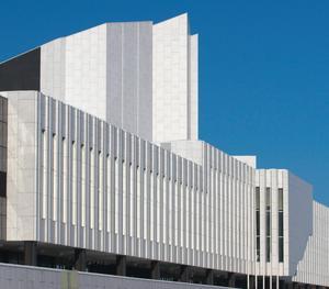 Alvar Aaltos Finlandiahuset i Helsingfors stod klart 1971. Foto: Thermos