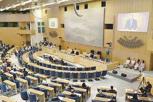 På torsdag röstar riksdagen om lättnader i nya gymnasielagen. Foto: Henrik Montgomery / TT