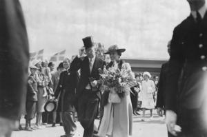 Kronprinsen Gustaf Adolf med sin hustru kronprinsessan Louise var utställningens högsta beskyddare vid invigningen. Foto: Ateljé Uggla, Stockholm, ur Gävle kommunarkivs samlingar
