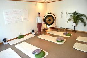 Ingrid Lindh använder yoga för att nå inre stabilitet.