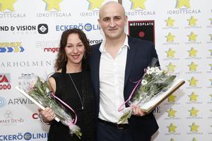 Annett Johansson, gymnastik, och Mirza Logo, fotboll, prisades som Årets Domare på galan.