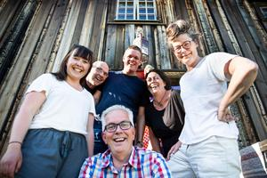 Jan Sundberg,  Linus Isander, Malin Nilsdotter Nyström, Stina Sundberg, Kicki Korths-Aspegren och Mats Hurtig.