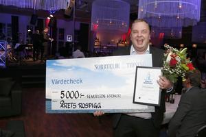 Jimmy Karlsson, diabetespromenadens grundare, blev framröstad till Årets Rospigg 2019.
