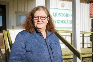 Tina Tjärnberg Forslund, ordförande i Ljustorps IF.