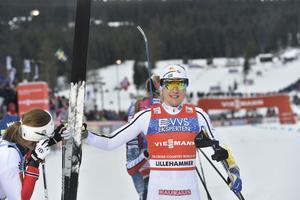 Stina Nilsson, femma, sedan kroppen inte svarade som hon önskade i finalen.