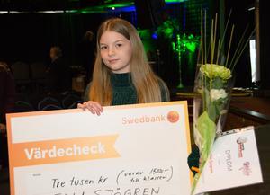 Ella Sjögren, 8 c i Hagaskolan, vann det första Lilla Sherlock-priset. Men i nuläget har hon inga planer på att fortsätta skriva deckarhistorier.