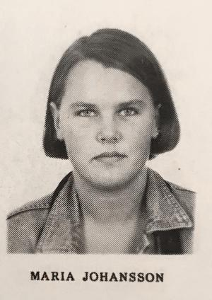 Maria Skäringer, skådespelare, komiker och manusförfattare, klass EP1, Karolinska skolan 1992/93.