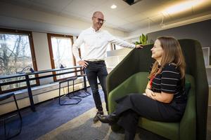 När flera kompetenser ska samarbeta krävs ett flexibelt kontor, menar David Harrysson och Susann Sandegård på WSP i Gävle.