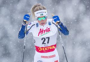 Arkivbild: Frida Karlsson under damenes 10 km klassisk i Ruka