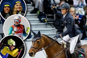 Charlotte Kalla, Stina Nilsson, André Myhrer och Hanna Öberg stod alla för starka prestationer i OS. På hemmaplan vann Henrik von Eckerman världscuptävlingen i Göteborg Horse Show. Självklart vad som väger tyngst? Bilder: TT
