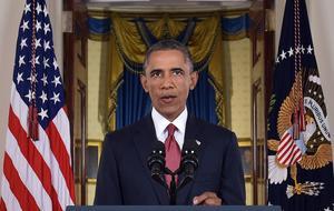 Foto: Saul Loeb/AP/TTDen 10 september 2014 håller president Barack Obama tal till nationen från Vita huset i Washington. Han gav besked om att USA skulle intensifiera insatserna mot IS genom att bland annat hjälpa irakisk militär att bekämpa IS. Under samma tal nämnde han det som ADFA tidigare samma dag hade bett Obamas talskrivare att ta upp: att USA måste arbeta för att Iraks ursprungsbefolkning ska kunna återvända till sina hem.